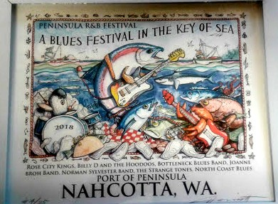 Peninsula Rhythm & Blues Festival Poster
